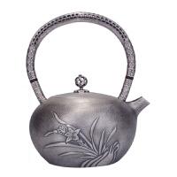 999烧水壶纯银茶壶茶具 银壶纯银烧水壶纯银煮水壶兰韵日本银壶纯银