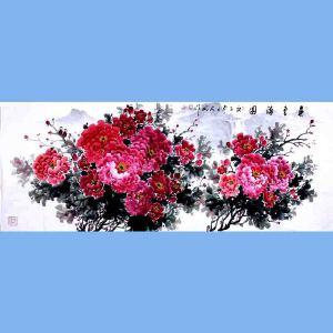 中国青年美术家协会常务理事,国家一级美术师,中国山水画院专业画家,山东省美协会员高云鹏(春色满园)