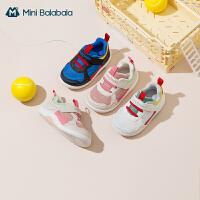 【底价秒杀:108.9元】迷你巴拉巴拉婴儿学步鞋2021春款宝宝软底机能鞋耐磨防扭脚透气鞋