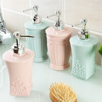 装洗手液的瓶子 塑料水瓶洗发洗手液创意洗发水乳液器按压式泡沫欧式 方形粉色