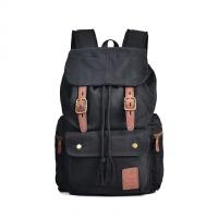 新款2018男士棉帆布包休闲户外大容量双肩背包登山书包 24寸