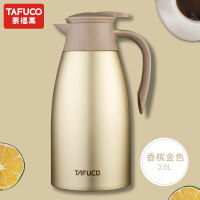 [当当自营]日本泰福高不锈钢保温壶2L 家用热水瓶暖水壶超大容量开水壶保温瓶T1284 桃粉色