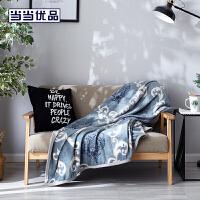 当当优品毛毯 法兰绒盖毯空调毯 150*200cm 欧式风情