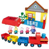 邦宝小猪佩奇系列玩具拼插积木家庭过家家大颗粒益智拼装18个月以上