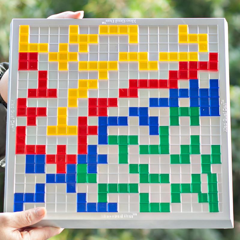 小乖蛋方格游戏2-4人版 俄罗斯方块角斗士棋桌面游戏益智棋牌玩具