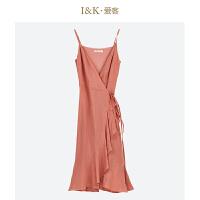 【秒杀价:63元】爱客高腰吊带裙2019夏季 法式高端无袖荷叶边中