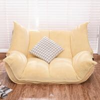 懒人沙发榻榻米单双人客厅小沙发日式折叠沙发床卧室午休飘窗躺椅
