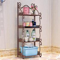 卫生间多功能落地置物架铁艺浴室置物架 落地卫生间脸盆架 洗手间厨房收纳储物层架