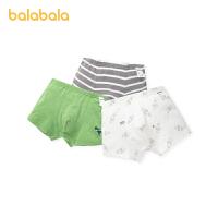 【1.20年�� 3件6折: 47.4】巴拉巴拉�����妊�男大童棉�和�短�平角底���力印花四角�三�l�b