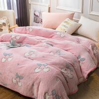 珊瑚绒毛毯冬季加厚保暖法兰绒单人宿舍学生毯子垫床单被子
