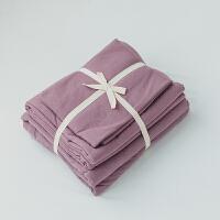 君别无印纯色天竺棉针织良品被套床上用品四件套1.5m/1.8m床 2.0m床被套220x240cm 床单款