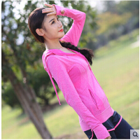 外套舞蹈服女 运动健身衣卫衣跑步瑜伽服长袖上衣帽衫