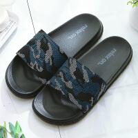 潮流迷彩男士凉拖鞋女夏季情侣室内外穿防滑软底轻便家居浴室拖鞋
