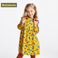 巴拉巴拉童装宝宝公主裙女童连衣裙小童秋装新款儿童裙子纯棉