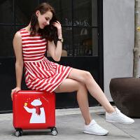 学生拉杆行李箱少女生可爱糖果色小型旅行箱轻便韩版小清新个性潮