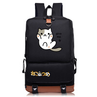 猫咪后院动漫初高中男女学生书包双肩包 可爱背包小猫