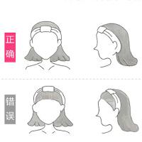 洗脸发带女士卡通可爱化妆头巾束发带简约个性束发巾防滑发箍