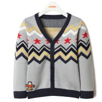 加菲猫儿童装男童针织开衫 春款长袖针织衫GGM17570毛衣