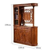 玄关柜实木隔断柜花梨木酒柜双面屏风家具客厅间厅柜 组装