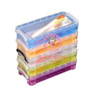 糖果色 透明收纳盒 画刷 画笔收纳盒 多用途 储物盒 5色可选