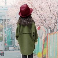 女童装呢子大衣中长款2017新款韩版中大童风衣公主外套加厚毛呢