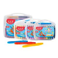 马培德炫彩棒油画棒蜡笔套装儿童安全无毒可水洗24色36色水溶性旋转蜡笔幼儿园宝宝彩绘棒丝滑画笔涂色不脏手