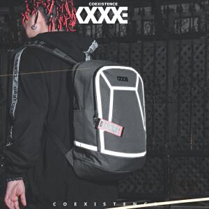 【支持礼品卡支付】COEXISTENCE欧美街头潮流时尚反光英伦百搭双肩背包