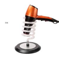 新款吹风机风筒座美发吹风机支架发廊家用电吹风架子桌面台式 白 台式胶底座
