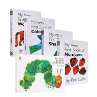 英文原版The Very Hungry Caterpillar好饥饿的毛毛虫艾瑞卡尔英语启蒙纸板5册
