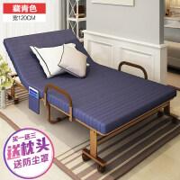 折叠床单人办公午休床双人陪护加固金属床双人午睡沙发床