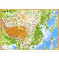 中国地形图 立体凹凸地势地貌地图 54X37cm 三维立体效果 凹凸地图 凹凸立体地理 凹凸立体世界地形图 中国地形图