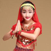 时尚肚皮舞头饰发箍彩铃发卡成人印度舞头纱饰品发卡儿童舞蹈配饰