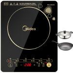 (支持礼品卡支付)【 美的 官方旗舰店】Midea 美的 电磁炉WK2102T一键爆炒,黑晶面板,防滑触摸屏