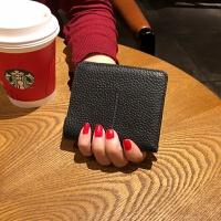 新款ins新款女士钱包短款迷你韩版可爱2折头层牛皮青年小钱夹