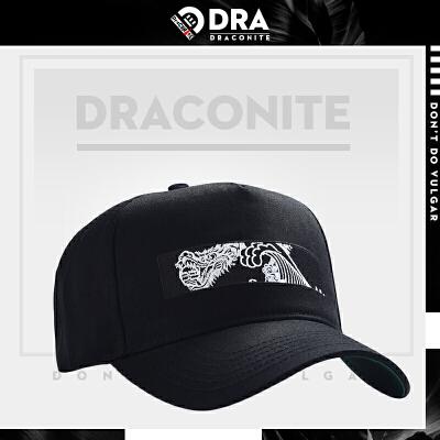 DRACONITE潮牌街头图案印花弯檐帽子女嘻哈休闲运动鸭舌帽男