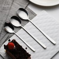 光一网红不锈钢汤勺子小家用长柄成人个性创意大瓢羹西餐吃饭用的勺子