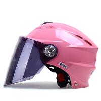 野马315夏天摩托车头盔 半覆式电动车安全帽 夏季防晒男女电瓶车半盔