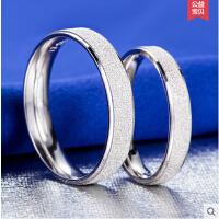 韩版时尚创意对戒 925银情侣戒指 男指环单戒女戒指