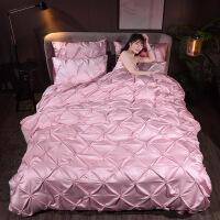 床上四件套棉纯棉1.8米冰丝欧式被子丝滑床单被套1.5米床上用品