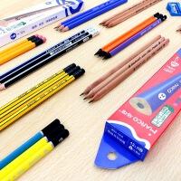 马可9001铅笔学生HB书写铅笔安全无铅毒2B三角铅笔 带橡皮头