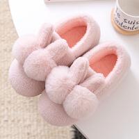 棉拖鞋女冬季家居包跟室内家用产后情侣毛绒月子可爱秋冬儿童棉鞋 36-37码 适合35-36码