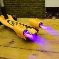 美国xjd儿童滑板车折叠大号3轮闪光溜溜车划板车男女童喷雾踏板车