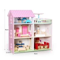 儿童过家家房子小别墅房间家具套装木制娃娃屋男女孩玩具礼物