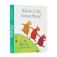英文原版 绿绵羊在哪儿 Where Is the Green Sheep童书绘本 幼儿启蒙认知读物 纸板书 吴敏兰绘本