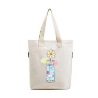 新款夏韩版学生帆布包 手提大容量购物袋 文艺女包单肩