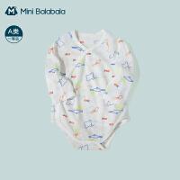 迷你巴拉巴拉婴儿三角衣2021夏季新款宝宝纯棉薄款新生儿连体衣