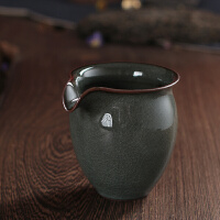 古韵青瓷日式公道杯铁胎公杯陶瓷功夫茶具手工大号冰裂茶海分茶器