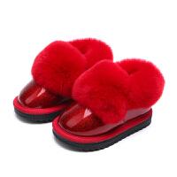 儿童雪地靴2017新款女童棉靴秋季公主宝宝棉鞋短靴兔毛加绒靴子