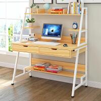 亿家达电脑桌台式 简易书桌书架组合 家用多功能写字桌创意写字台