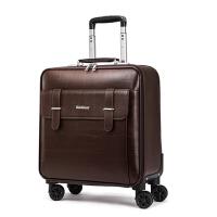 商务拉杆箱16寸万向轮皮箱20寸登机箱牛皮旅行箱男女行李箱包